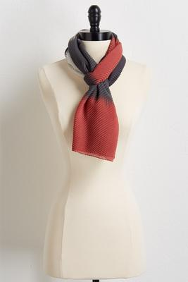 crinkled colorblock oblong scarf