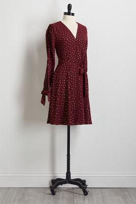 foiled dotted dress