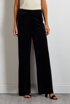 velvet pin stripe pants