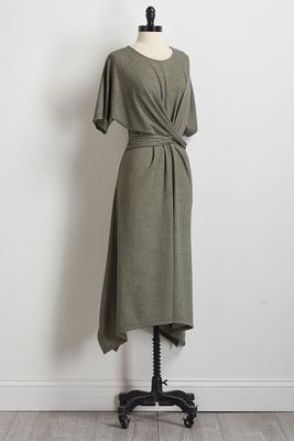 twisted hanky hem dress
