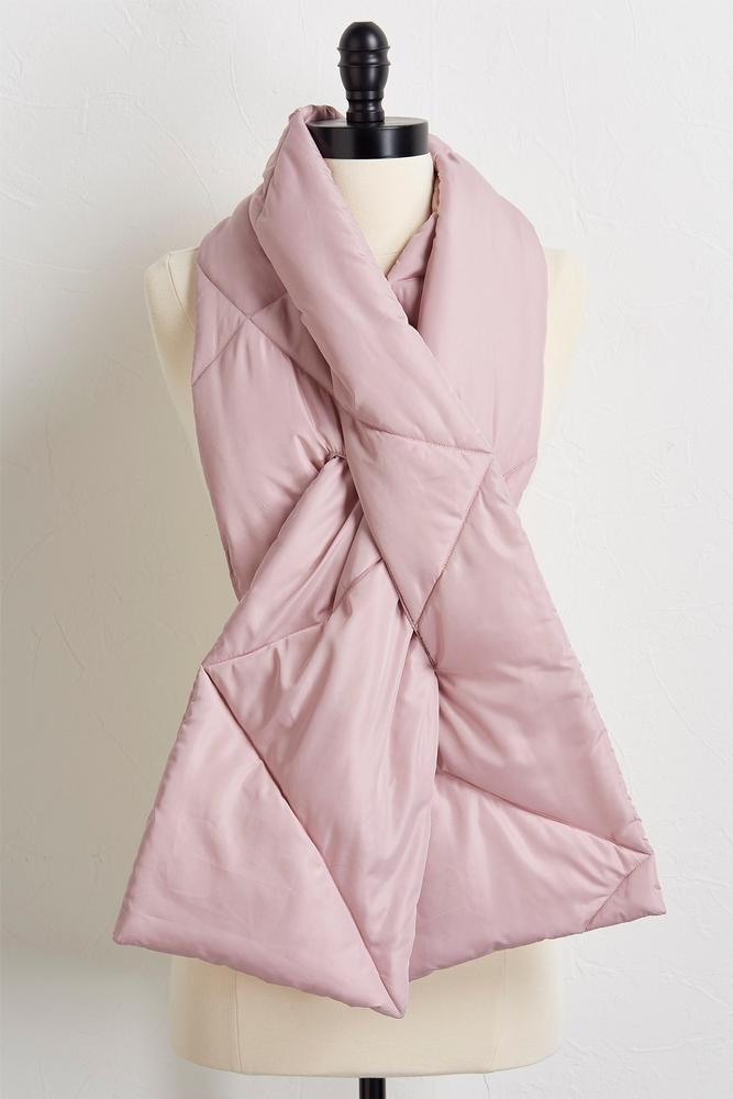 Quilted Puff Scarf