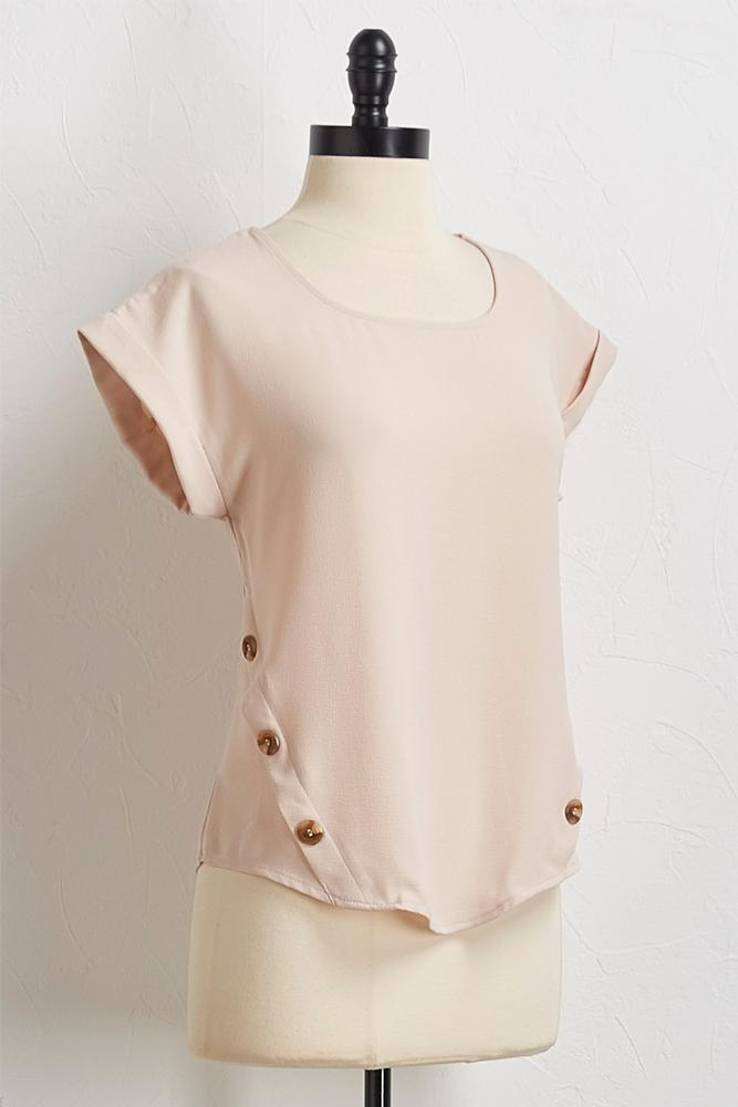 Button Embellished Top