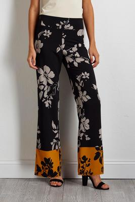 gold border wide leg pants