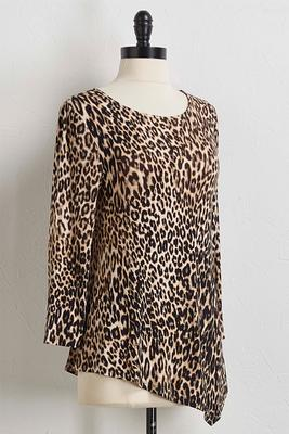 leopard hanky hem top