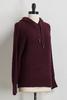 Wine Ribbon Hooded Sweater