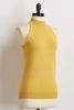 Yellow Halter Ribbed Sweater