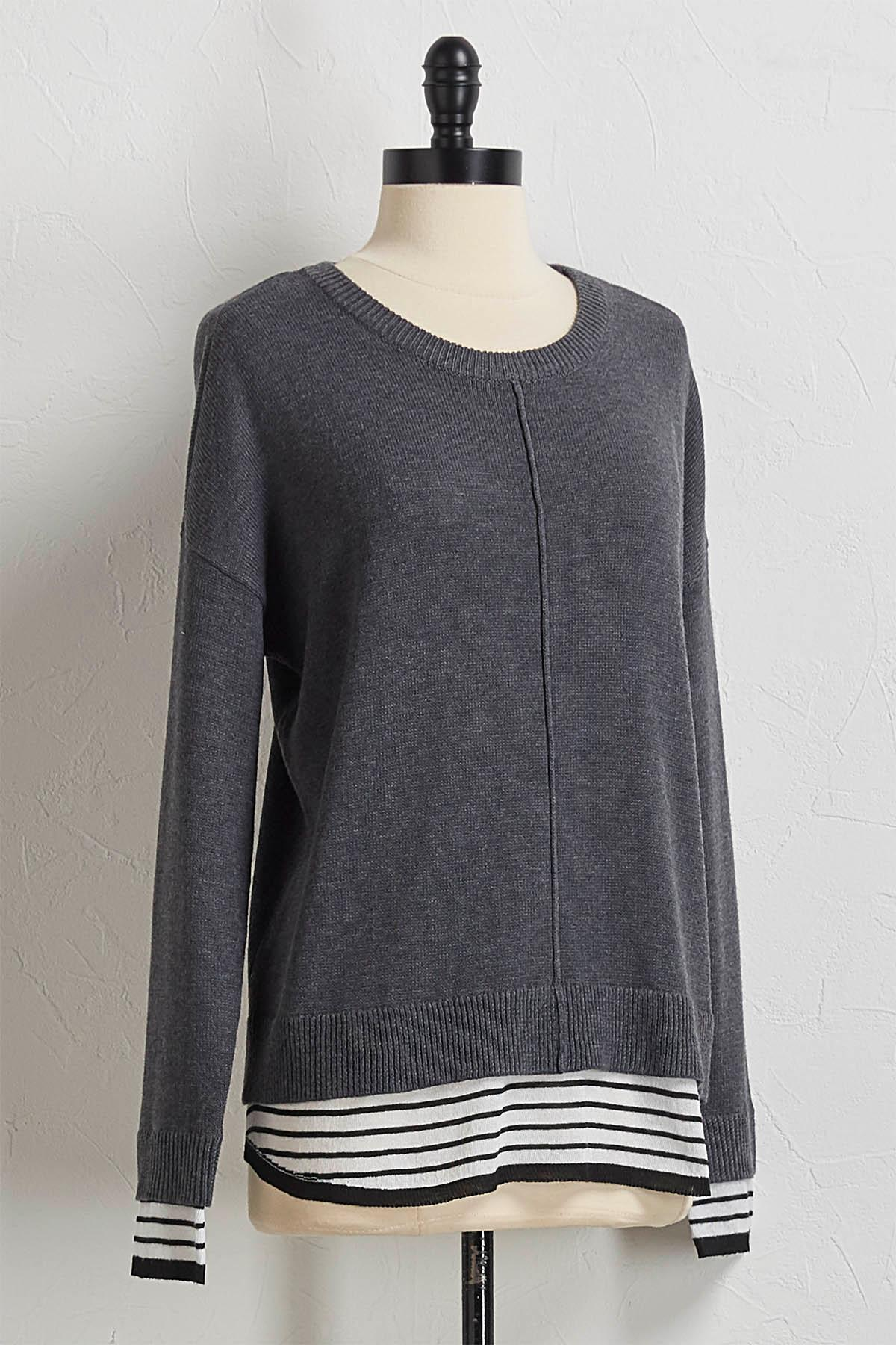 Layered Pullover Sweater