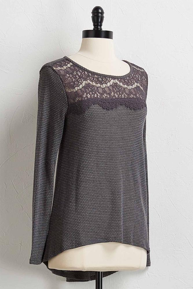 Scalloped Lace Tunic