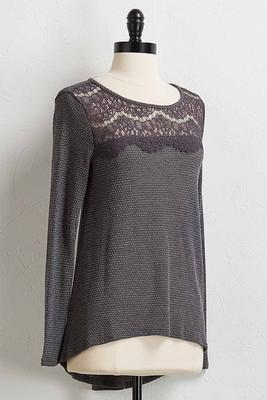 scalloped lace tunic
