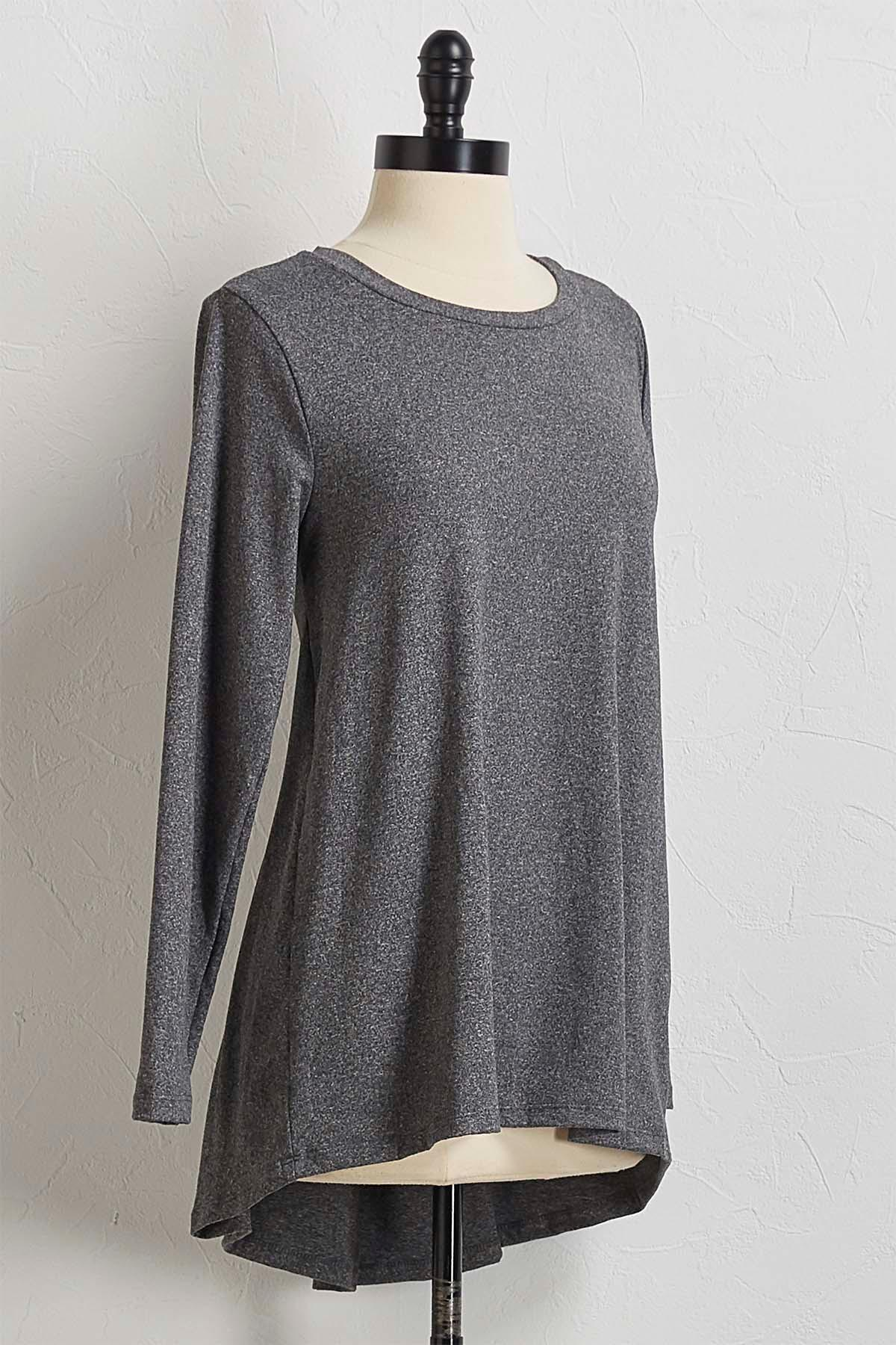 Gray High- Low Tunic