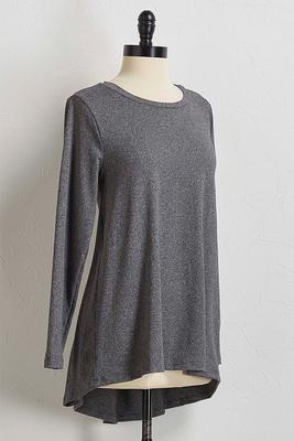 gray high-low tunic