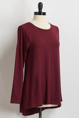 wine high-low tunic