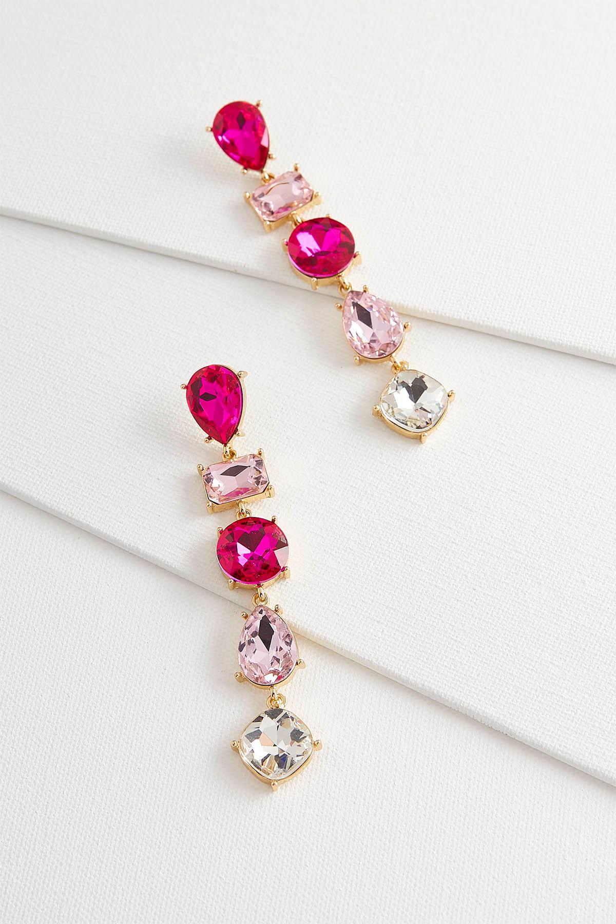 Linear Geo Glass Earrings
