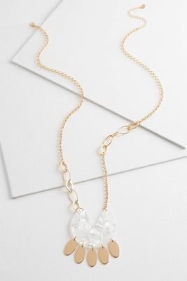 shaky ivory resin necklace