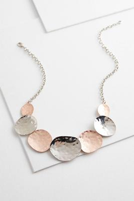 two-toned disk necklace