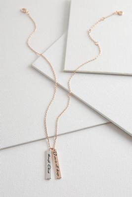 inspirational two-toned pendant necklace
