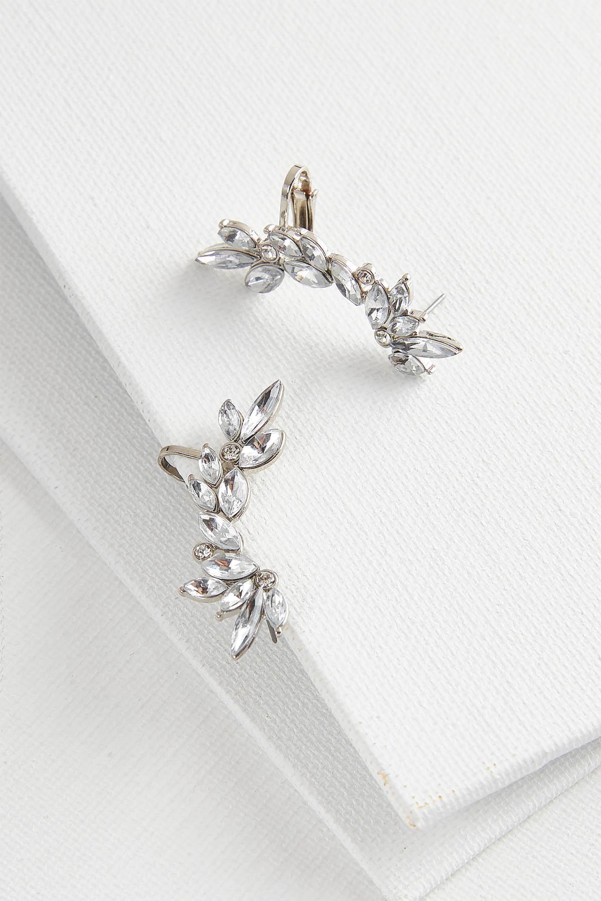 Rhinestone Cuff Earrings