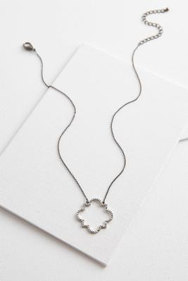 pave moroccan pendant necklace