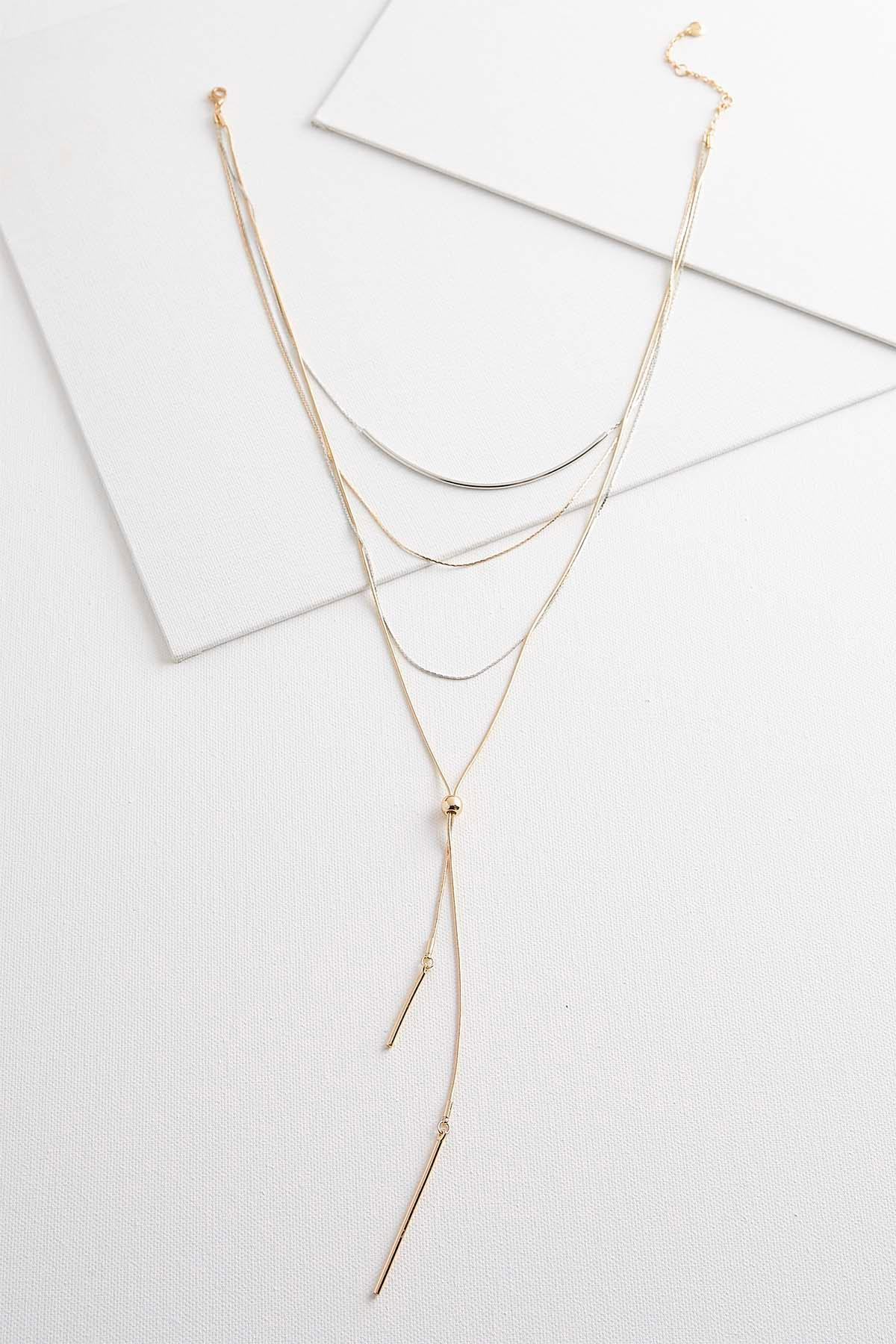 Two- Toned Layered Necklace