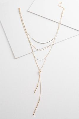 two-toned layered necklace