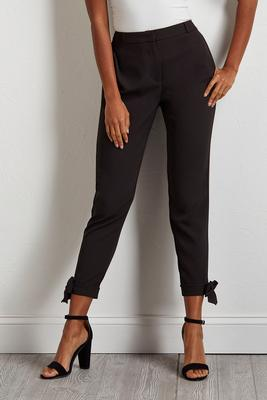 bow hem ankle pants