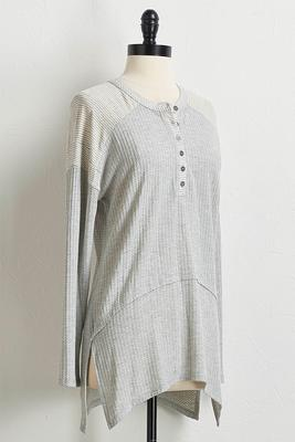 stripe thermal tunic