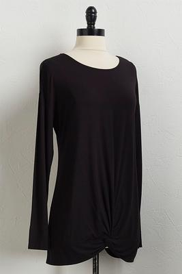 solid twisted hem tunic