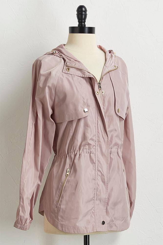 Cinched Waist Slicker Jacket