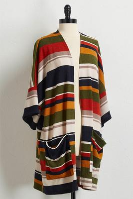 hacci multi stripe cardigan