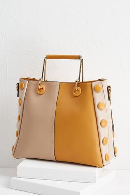 button colorblock bag