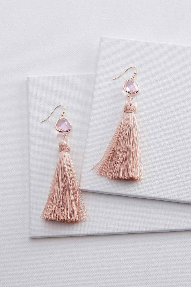 Faceted Tassel Earrings