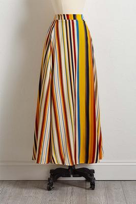multi stripe maxi skirt