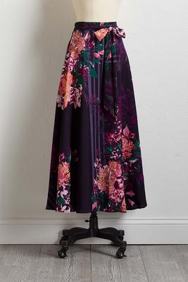 purple floral maxi skirt
