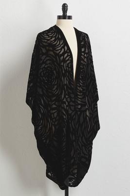 draped burnout kimono