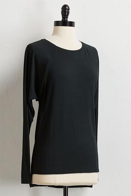 solid high-low tunic