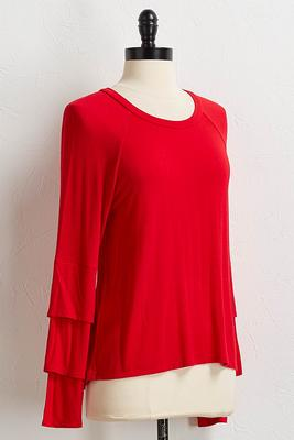 solid tiered sleeve tee