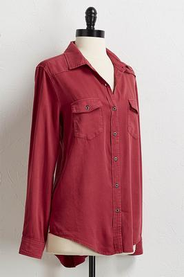 soft button down tunic