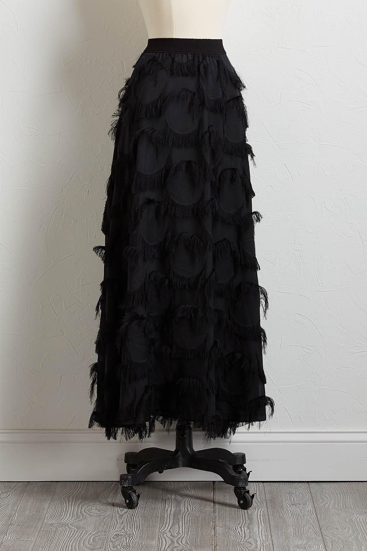 Eyelash Fringe Maxi Skirt