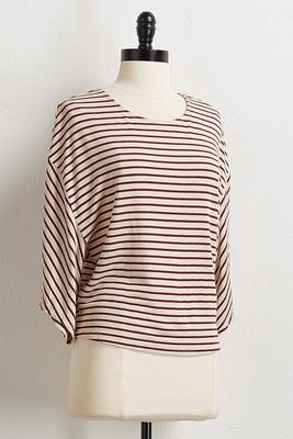 wine stripe top