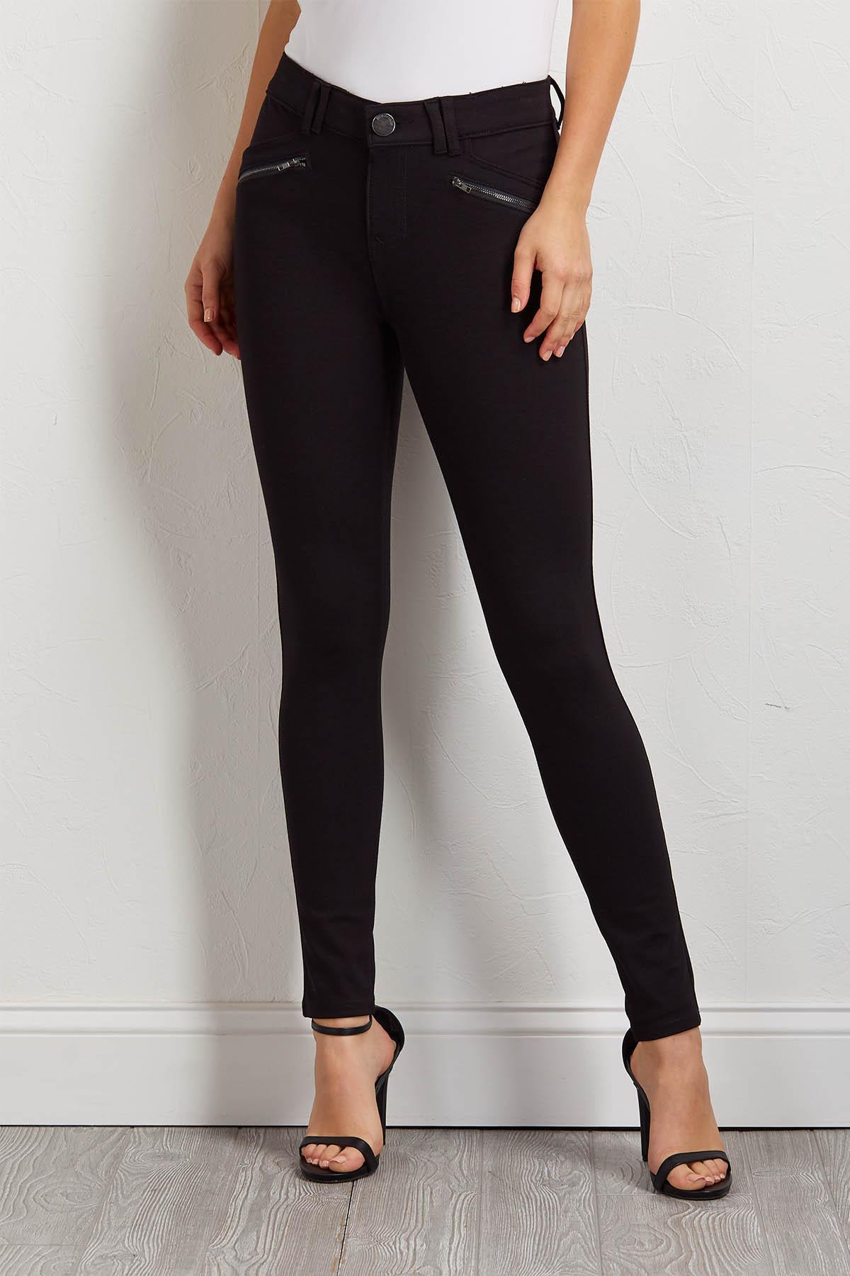 Ponte Zip Pocket Pants