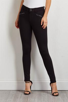 ponte zip pocket pants