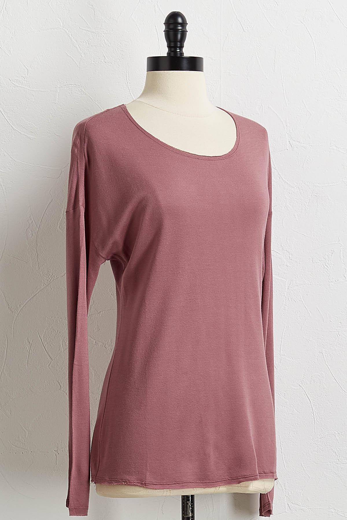 Solid Scoop Neck Top