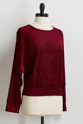 stripe burnout pullover top