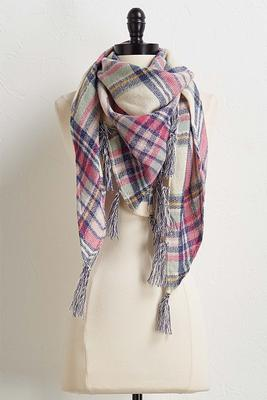 lurex plaid scarf