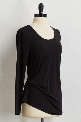 side ruched crepe top