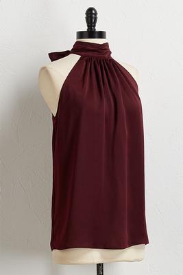 wine tie back halter top
