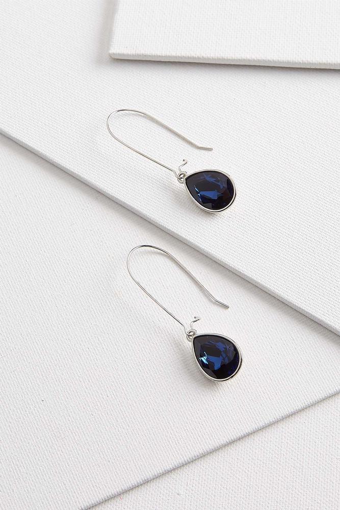 Dangle Tear Glass Earrings