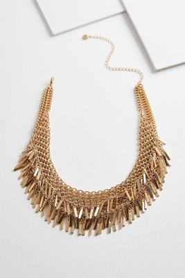 shaky chain bib necklace