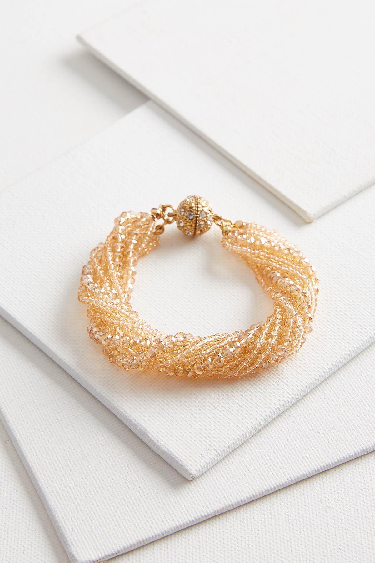 Sparkling Rondelle Beaded Bracelet