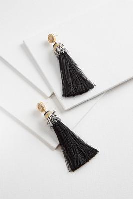 jewel tassel earrings